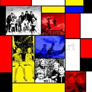Mondrian Photo Collage