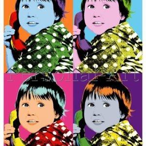 Warhol Style Pop Art Portrait